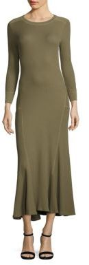 Polo Ralph Lauren Waffle-Knit Maxi Dress $145 thestylecure.com