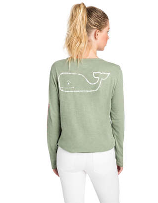 Vineyard Vines Long-Sleeve Slub Two-Tone Vintage Whale Tee