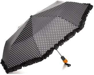 Bloomingdale's Ruffle Dot Umbrella - 100% Exclusive