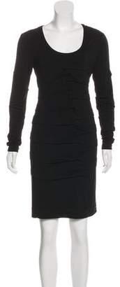 Nicole Miller Ruched Knee-Length Dress