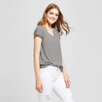 Mossimo Supply Co. Women's V-Neck Striped T-Shirt - Mossimo Supply $8 thestylecure.com
