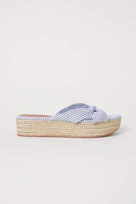 H&M Platform Sandals - Blue