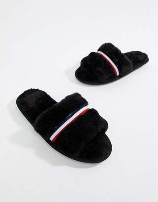 Asos DESIGN Neo stripe slider slippers
