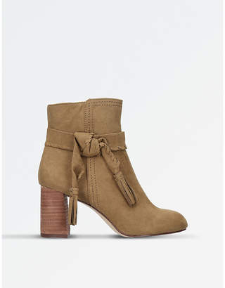 Nine West Taupe Kalnera Suede Heeled Boots