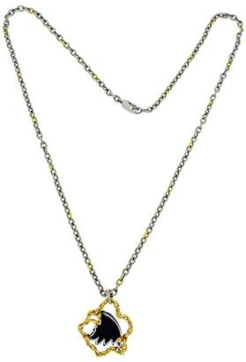 Carrera y 18K Yellow Gold Stainless Steel Tourmaline Eagle Necklace