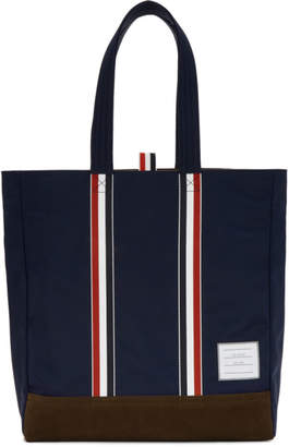 Thom Browne Navy Unstructured Tote