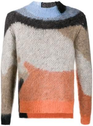 Ambush mohair crew neck sweater orange
