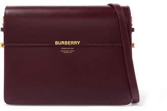 Burberry Large Two-tone Leather Shoulder Bag - Burgundy