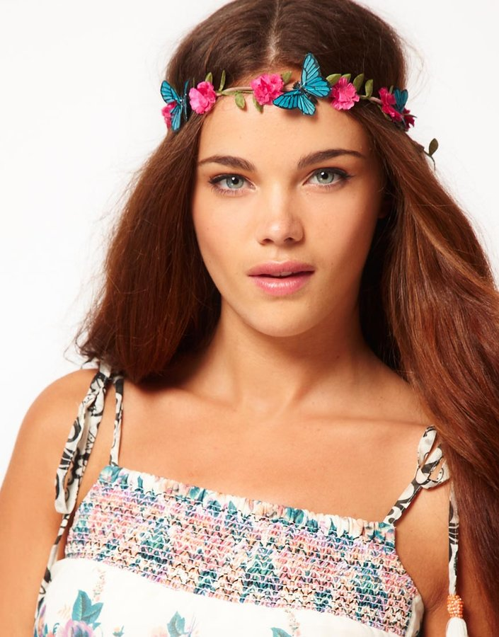 River Island Butterfly Garland Head Band