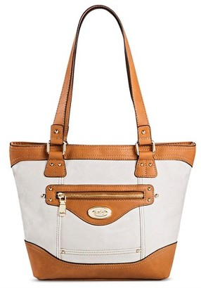Bolo Women's Faux Leather Tote Handbag with Power Bank $44.99 thestylecure.com