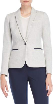 Tommy Hilfiger One-Button Sweatshirt Blazer