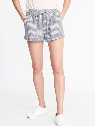 Old Navy Mid-Rise Linen-Blend Pull-On Shorts for Women