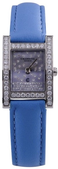 Charriol Charriol Megeve Stainless Steel Diamond Dial and Bezel 19mm Watch