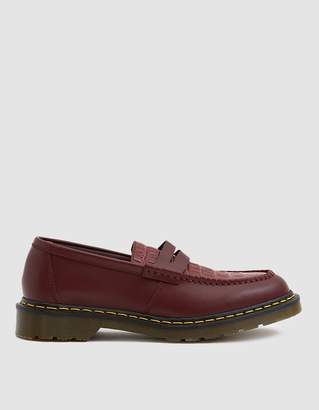 91736ad12ea Dr. Martens x Stussy Penton Loafer in Cherry Red