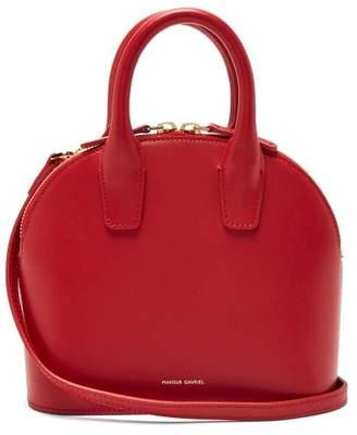 Mansur Gavriel Top Handle Mini Leather Bag - Womens - Red