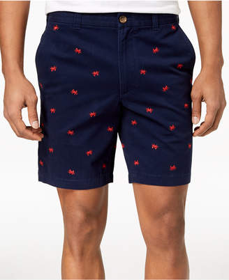 """Club Room Men's Crab Embroidered 9"""" Shorts, Created for Macy's"""