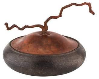 Mica Decorative Vase Carol Green Bronze Clay Vessel