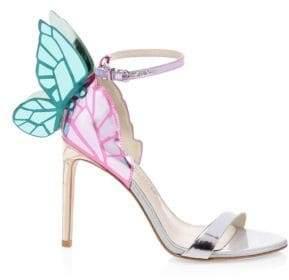Sophia Webster Chiara Metallic Slingback Sandals