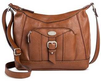 Bolo Women's Faux Leather Crossbody Handbag with Zip Closure - Brown $44.99 thestylecure.com