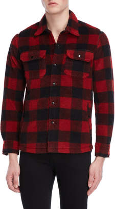 Levi's Buffalo Plaid Sherpa Work Shirt