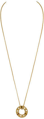 One Kings Lane Vintage Givenchy Gold Disk Necklace with Stones