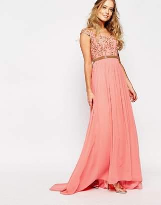 Virgos Lounge Juliana Embellished Bardot Maxi Dress