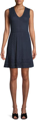 M Missoni Textured Knit V-Neck Dress