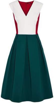 Raoul Color-Block Pleated Cotton-Blend Dress