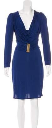 Just Cavalli Pleated Knee-Length Dress