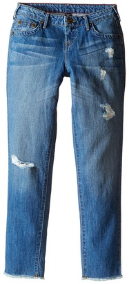 "True Religion Kids Audrey Destructed ""Boyfriend"" Jeans in Breeze Blue (Big Kids) $79 thestylecure.com"