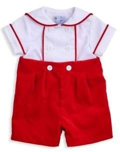 Florence Eiseman Baby Boy's Button-On Velvet Romper