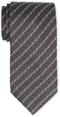Ermenegildo Zegna Black Link Silk Tie