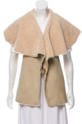 Givenchy Shearling Buckle-Accented Vest