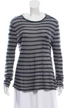 Alexander Wang Striped Long Sleeve T-Shirt