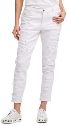 DKNY Distressed Boyfriend Jeans