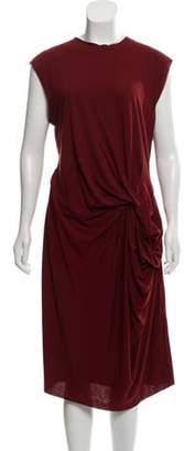 Lanvin Sleeveless Midi Dress Red Sleeveless Midi Dress