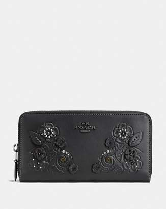 Coach Accordion Zip Wallet With Tea Rose Tooling