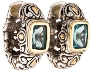 John Hardy Topaz Jaisalmer Huggie Earrings