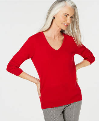 Charter Club Pure Cashmere V-neck Sweater, in Regular & Petite Sizes