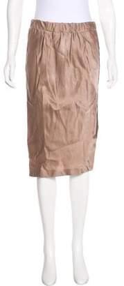 Brunello Cucinelli Satin Knee-Length Skirt