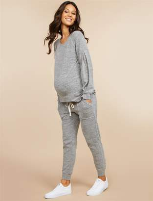 Motherhood Maternity MiMi Under Belly French Terry Skinny Leg Maternity Pants