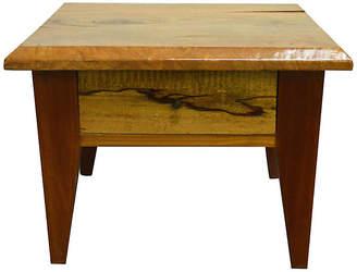 One Kings Lane Vintage Indonesian Mango Wood Side Table - FEA Home