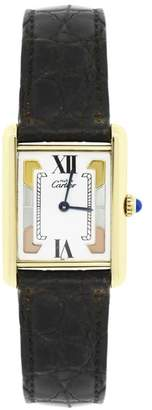 Must De Vermeil White Tri Color Dial 22mm Womens Vintage Watch
