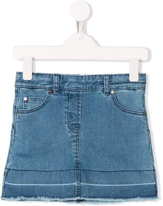 Stella McCartney raw edges denim skirt