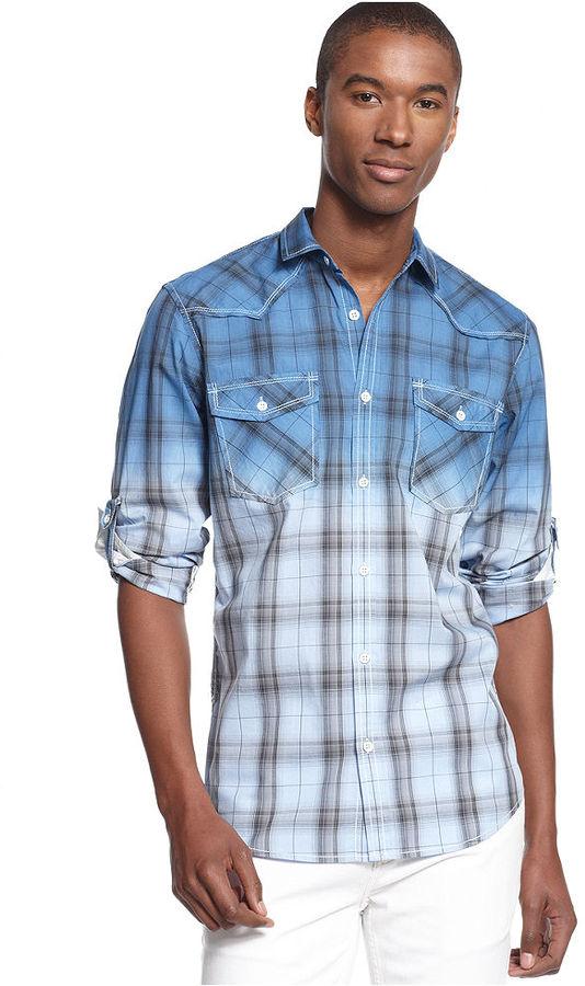 INC International Concepts Long Sleeve Dipper Shirt