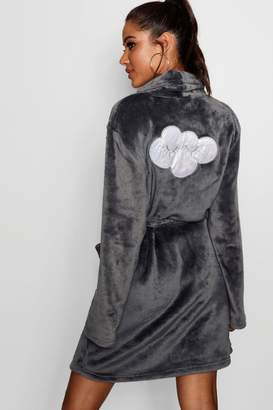 boohoo Eyelash Cloud Hooded Dressing Gown