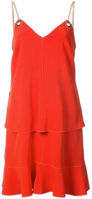 Derek Lam 10 Crosby 2-In-1 Cami Dress With Flounce Skirt