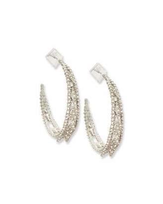 Alexis Bittar Crystal Lattice Hoop Earrings $195 thestylecure.com