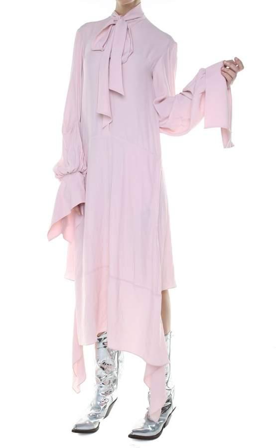 Rokh Lavalliere Crepe Midi Dress
