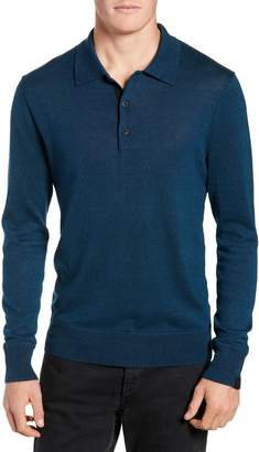 Rag & Bone Dean Slim Fit Long Sleeve Polo